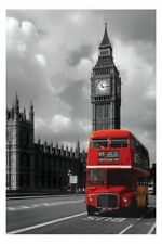 Routemaster and Big Ben Red London Bus Poster New