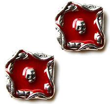 Death Skull Cufflinks - Gifts for Men - Anniversary Gift - Handmade - Gift Box