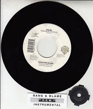 """R.E.M. (REM)  Bang And Blame 7"""" 45 rpm vinyl record + juke box title strip RARE!"""