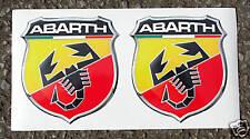 Fiat Abarth style logo stickers decals punto 500