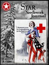 Star Needlework Journal #4.1 c. 1919 Swedish Weaving, Crochet Millinery & Laces