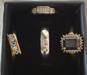 4 Lovely 9 Carat gold 9ct Gold Real Diamond Rings 7.13g Full UK Hallmarks Sell?