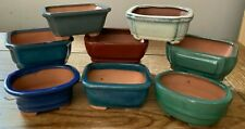 "3.75"" Glazed Ceramic Bonsai Pots in Assorted Colors and Shapes"