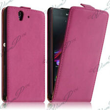 ACCESSORIES CASE COVER LEATHER PU TRUE PINK PR SONY XPERIA Z1 COMPACT D5503