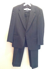 Burberry Mens Suit Dark Gray Pinstripe Size 39/40R