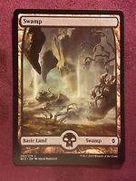Battle for Zendikar Full Art Land  Swamp #262  VO  -  MTG Magic (Mint/NM)