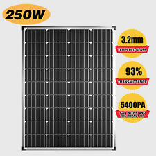 12V 250W Solar Panel Kit Mono with Anderson Plug Power Camping Battery Charging