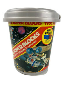 1986 1980s Tyco Super Blocks Construction Toy Space Building Set Some Legos too