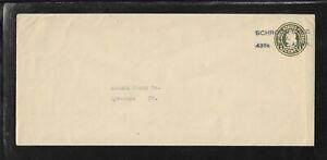 US Precancel Envelope: NY Schroon Lake - Local T-1 A 21 27 [Black Ink]; Used