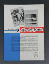 Werbeblatt MASONITE-PLATTEN mit BLUNA+AFRI Schildern um 1959
