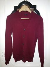 McGregor Merino Wool 100% men's sweater blazer cardigan, burgundy, size S