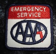 Vintage AAA Emerg Serv Label Embroidered Fabric Patch In Red, Black,White ColorN