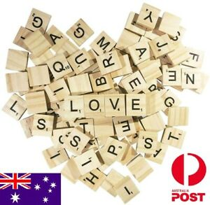 Wooden Letter Tiles Scrabble Crossword Game DIY Craft Gift Making Coaster Game