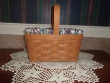Longaberger 1990 Candle Basket Set - Woven Traditions Plaid