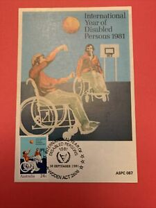 1981  -  INTERNATIONAL YEAR OF DISABLED PERSONS, Maxi Card [1v] Special P/M. Vvz