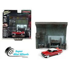 Johnny Lighnting 1:64 Diorama - Christine - 1958 Plymouth Fury with Garage resin
