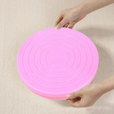 1pc Small Cake Revolving Turntable Decor Stand Platform Rotating Baking Tools