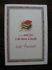 And yes I do have a book by Judy Theobald