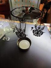 3 Stück Tisch-Deko Teelicht Pyramide mit 5 filigranen Engeln silberfarben, NEU