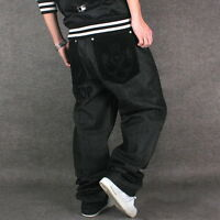 New Men's Black Jeans Denim Casual Pants Fashion Trousers HipHop Hipster W30-W46