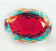 EGL Certified 16.40 Ct Natural Spectacular Mystic Quartz Oval Cut Gemstone d25
