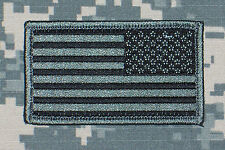 US Flag Patch ACU Subdued Reverse w/ Hook Fastener Backing Free Shipping to US!