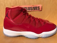 "Nike Air Jordan XI Retro 11 WIN LIKE '96 ""Gym Red"" Black 378037-623"