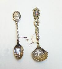 Two souvenir spoons one Iowa one with cloisonné