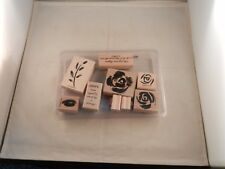 """Stampin' Up! """"New"""" Set Of 9 Stamps 2003 - Two-Step Stampin Roses In Winter"""