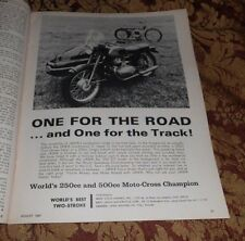 1967 Mint Print Ad Poster Jawa Motorcycles Californian II 350cc Twin Eso 500 DT