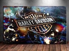 Harley Davidson Logo Motorräder Bild auf Leinwand Kunst Bilder Wandbilder D0773