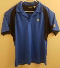 McDonald's Employee Uniform Mens Medium Blue Black Polo Shirt
