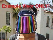 PAPARAZZI VISOR NAVY BLUE Face Sun Head Protection Shield Cover Cap V. Stiviano