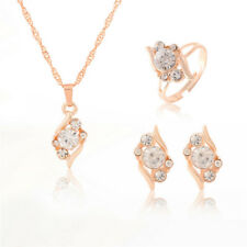 Set di gioielli Orecchini a catena in cristallo con catena in oro 3 pezziXM
