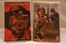 Freddy vs Jason vs Ash 2008 TPB'S Book #1 + #2 Nightmare Warriors - VF+/NM. OOP!