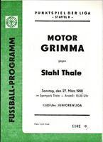 DDR-Liga 87/88 BSG Stahl Thale - BSG Motor Grimma, 27.03.1988