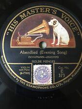 78 Rpm ISOLDE MENGES - Abendlied - SCHUMANN - Violin - HMV E 373