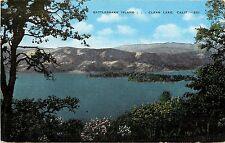 Vintage Linen Postcard; Rattlesnake Island, Clear Lake CA Lake County Unposted
