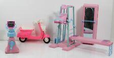Barbie Workout Center Play Set W/ Barbie Motor Scooter- 5 Pc. Set