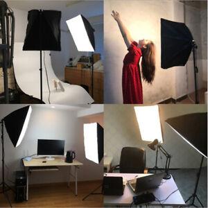 Tageslicht Studioleuchten Fotolicht Soft-Box mit 85W Fotolampe Stativ Tragetasch
