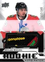 2018-19-U.D.PREMIER ROOKIE- DYLAN SIKURA  R.C. AUTO PATCH  SP #/249  CHICAGO WOW