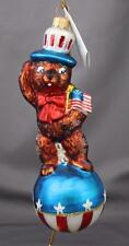 Christopher Radko Teddy For President 1997 Ornament 97-245-0 Patriotic Flag Bear