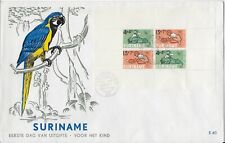 Souvenir Cover 1965 Suriname first day Cover Fdc B118a Semi-postal Parrot Cachet