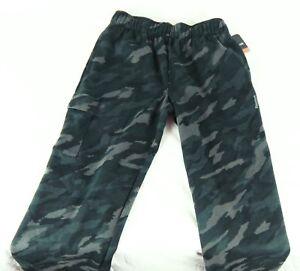 NWT  Boy's Reebok  Sport Drawstring Jogging Cargo Pants Caviar Camo Size Youth M