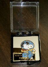 Vintage Snoopy Astronaut NASA Enamel TieClip ~ MINT IN BOX