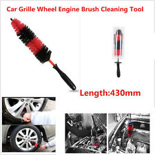 Car Grille Engine Motor Bike Wheel Tire Rim Brush Washing Cleaning 43cm Helper