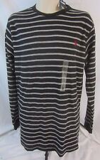 U.S. Polo Assn. Black Striped Long Sleeve Pull Over Shirt Men's L - CC226 - NWT