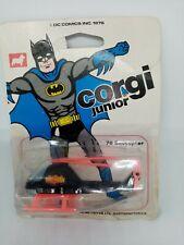 Corgi Juniors 78 Carded Batcopter. ON ORIGINAL  card. 1970S. Rare!!!