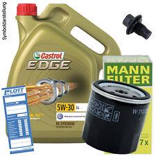 5L Castrol Edge LL Motoröl 5W-30 ÖL + MANN Ölfilter + Ablassschraube für Toyota