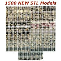 1500 NEW 3d STL Models for CNC - Compatible with Artcam Aspire Cut3d 3d-Printers